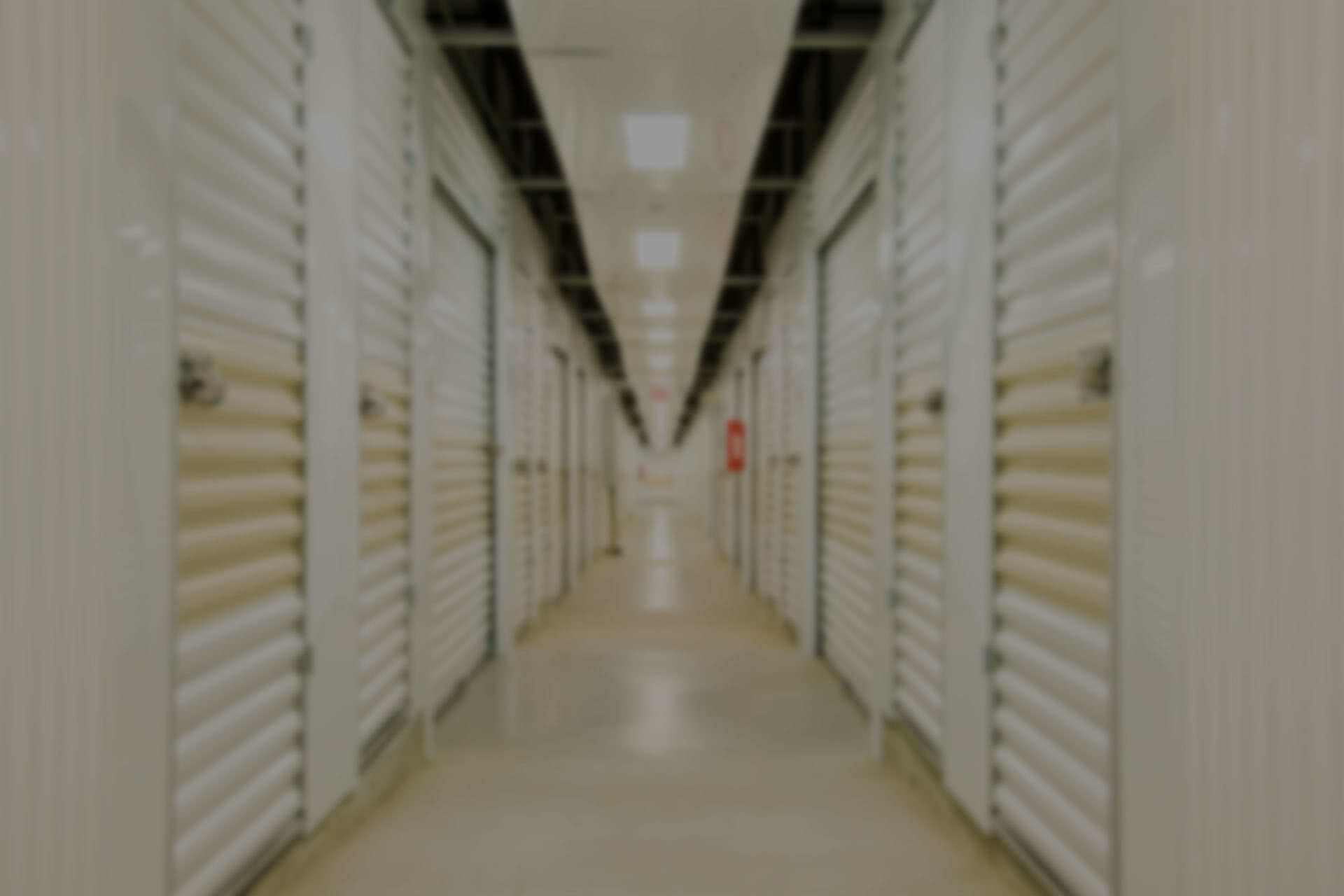 Rows of white storage lockers