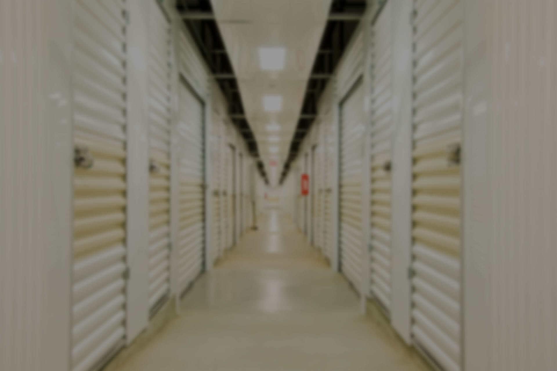 Rows of white storage lockers