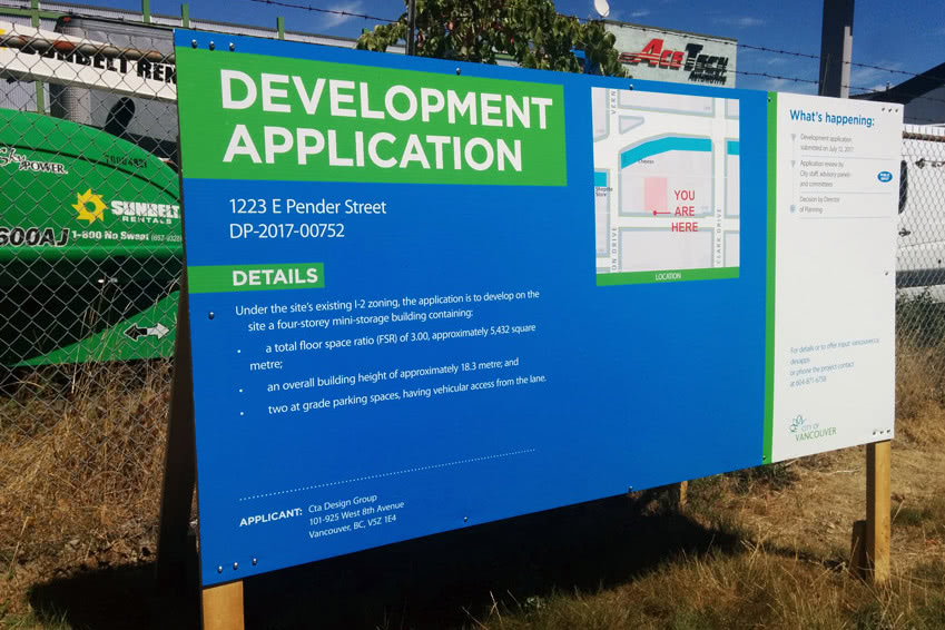 Development Application to the City of Vancouver