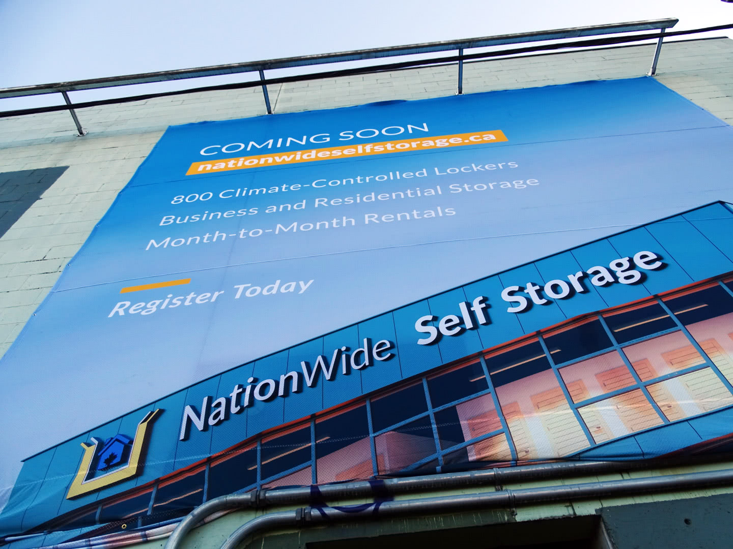 Banner Installed for NationWide East Pender Property