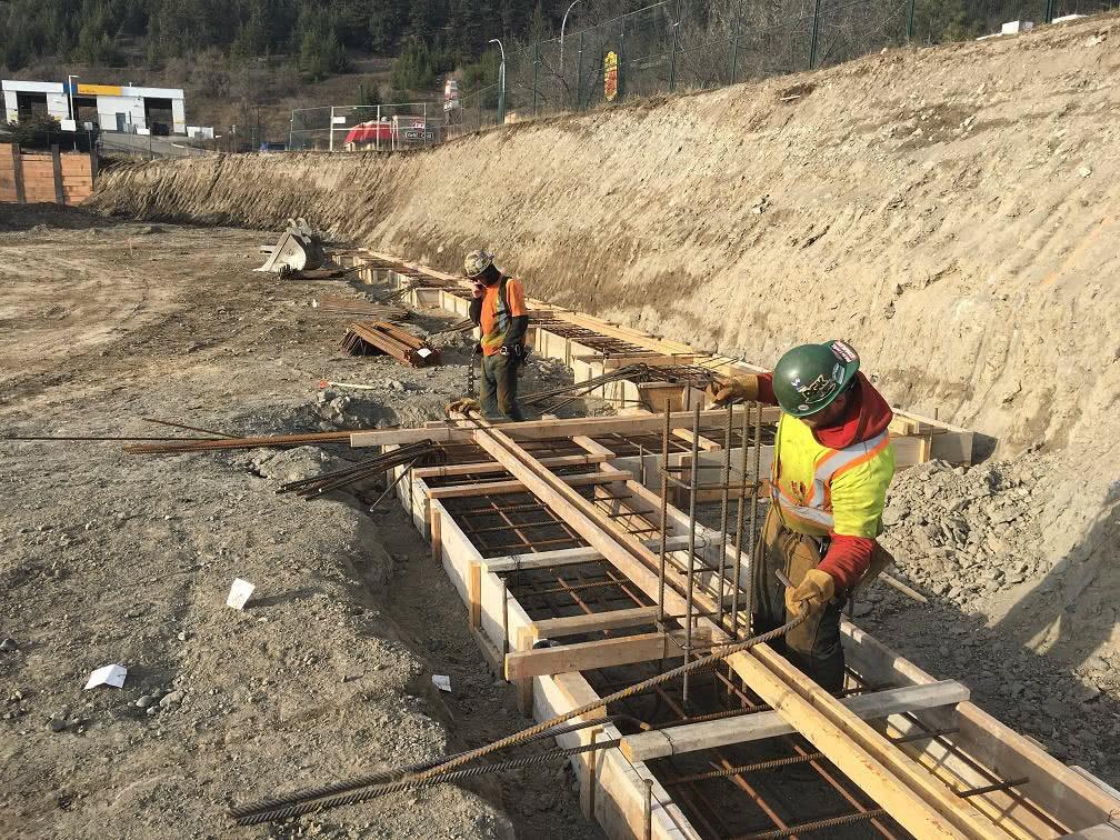 Kamloops property – rebar install well under way