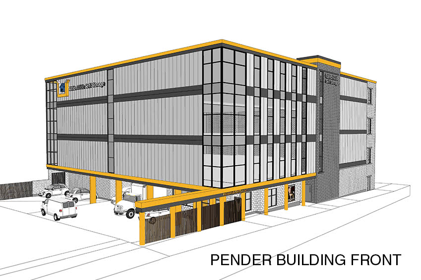 Proposed front view of the Pender Property