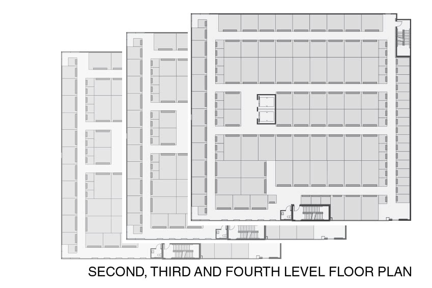 Second, third and fourth level floor plan for the Pender Property