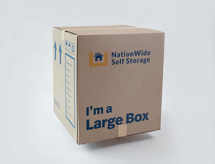 4 cube large box from NationWide Self Storage