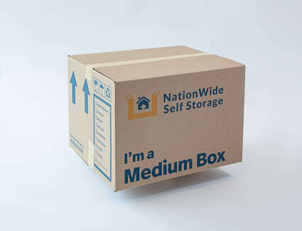 2 cube medium box from NationWide Self Storage