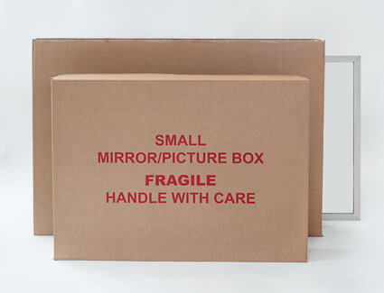 Small and large mirror boxes