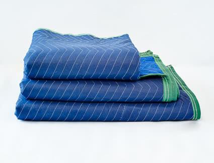Green moving blanket