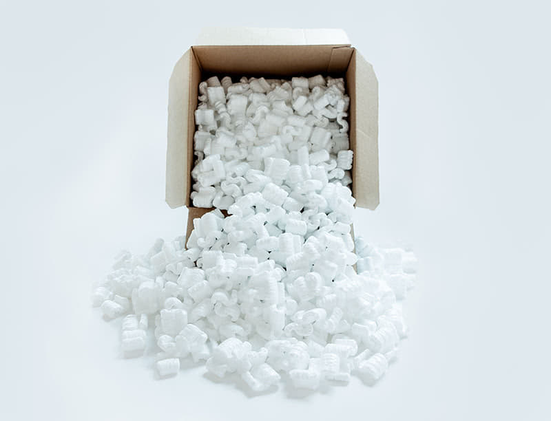 Moving safety with Packing peanuts