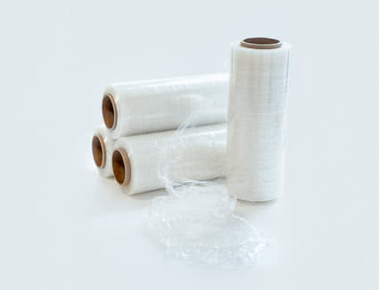 Stretch wrap in 3 and 13 inch rolls