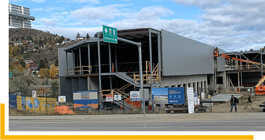 NationWide Self Storage Kamloops building currently under construction