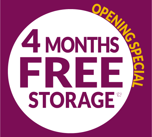 Four month free storage opening special advertisement