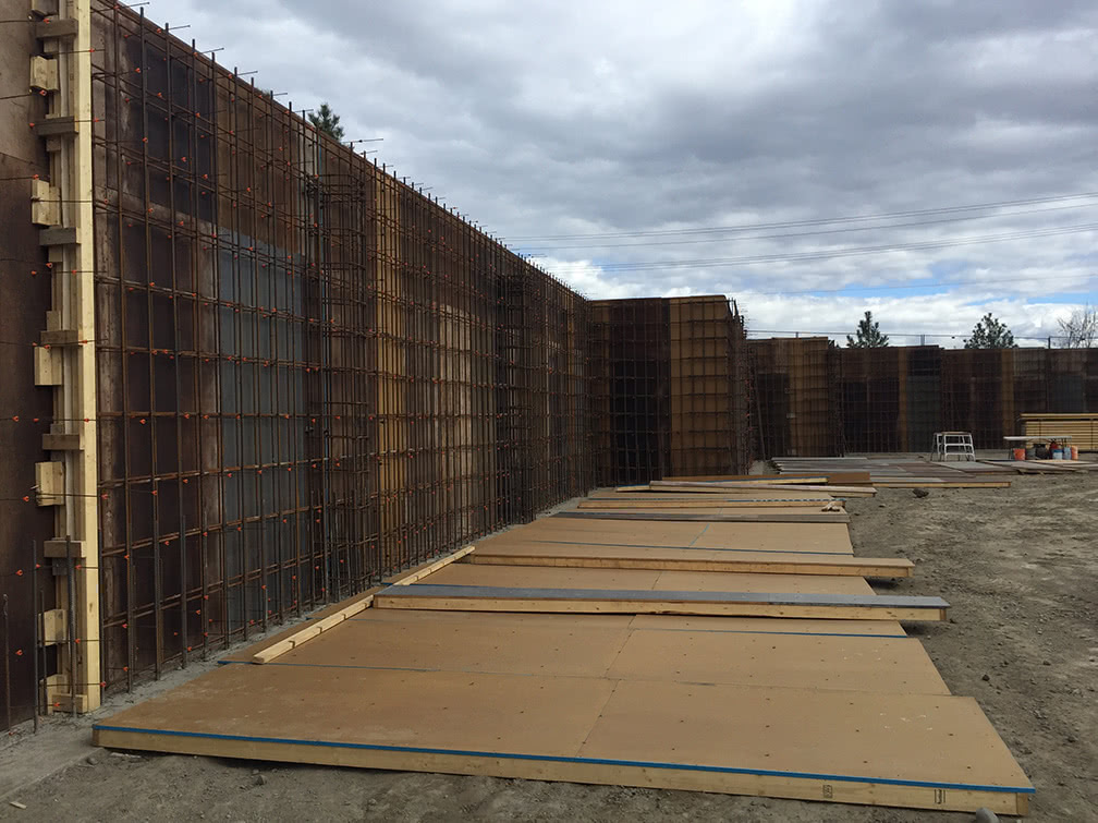 Kamloops property – rebar in place for the back wall