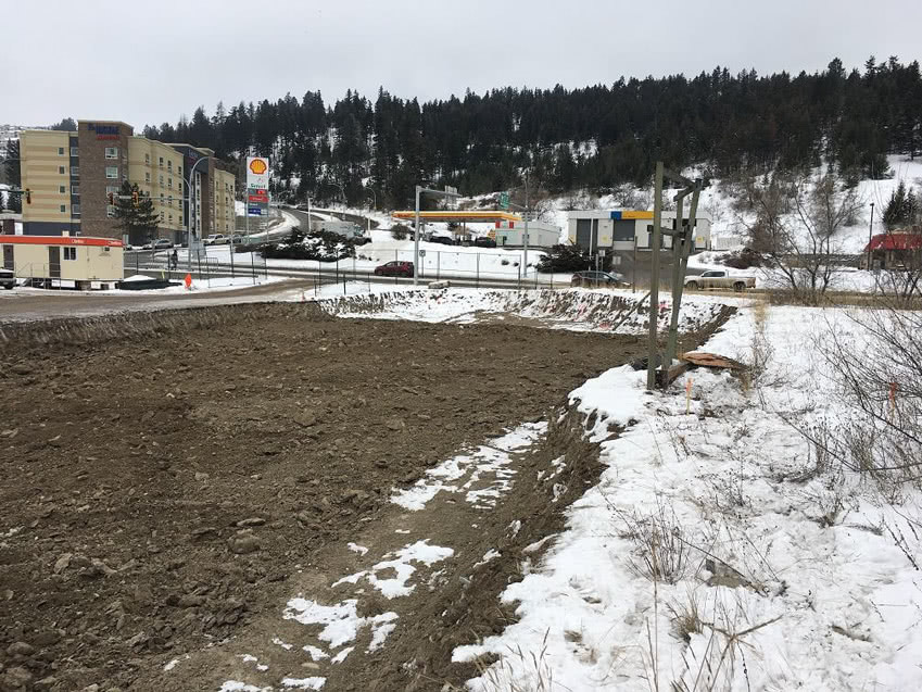 Kamloops Property Excavation of subgrade material underway, February 2019