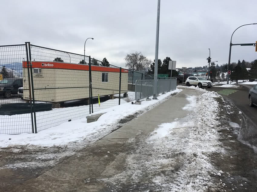 Kamloops Property General View South East Corner – Site trailer in place, February 2019