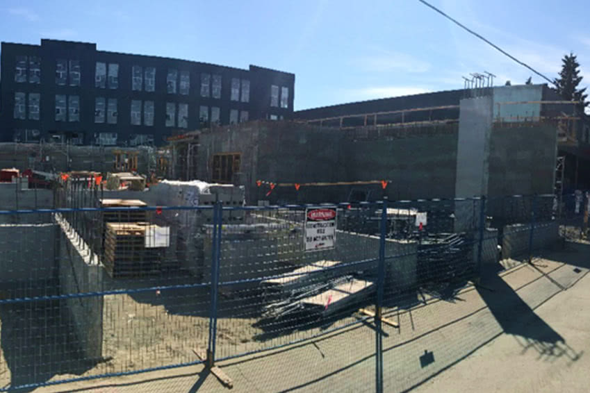 August 2018, Prism Construction completes the foundation.